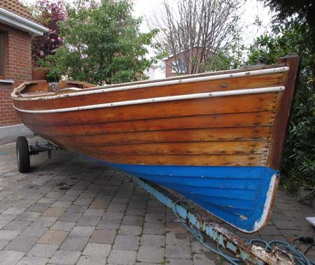 A 17' clinker boat designed and built by William Redmond, Greystones, Co. Wicklow, Ireland.