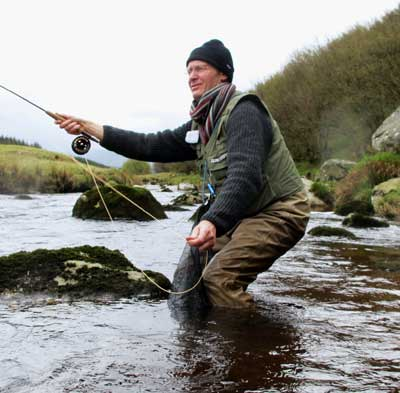 Casting a short line in Co. Wicklow.