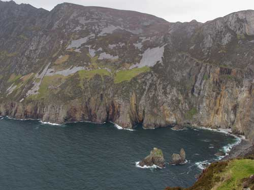 Slieve League, Co. Donegal, at 1,972 feet they are the highest sea cliffs in Ireland.