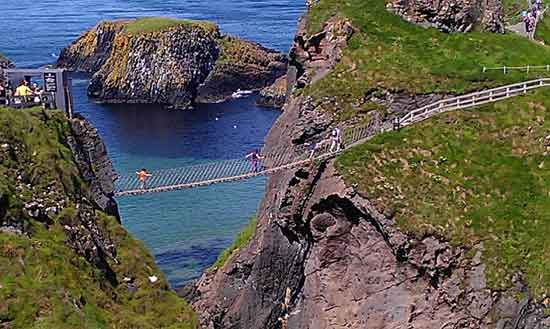 Carrick a Rede rope bridge, Co. Antrim.