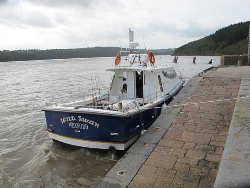 "Ballyhack, Co. Wexford based angling charter vessel ""Wild Swan""."