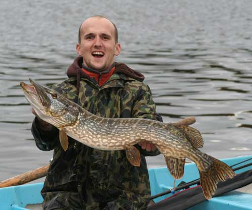 Medium sized pike always bring a smile.