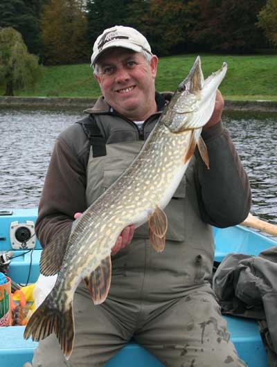A fine county Monaghan pike for angling guide Peadar O'Brien.
