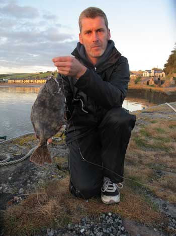 A cracking pier caught flounder landed by Martin O'Leary, Co. Wexford, Ireland.