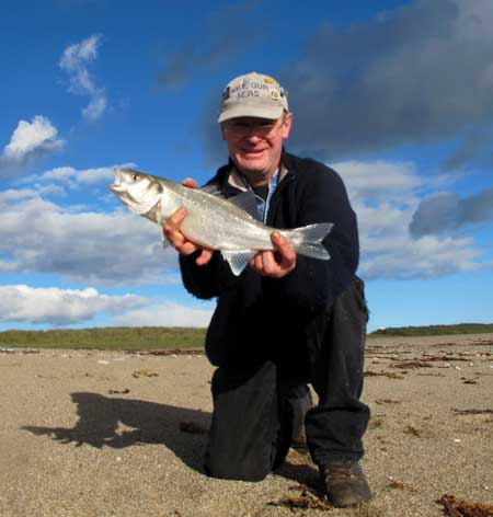 Bass fishing in Co. Wexford, Ireland.