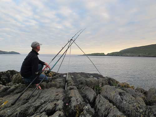 Sea fishing in West Cork Ireland.