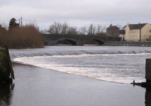 The River Barrow below Carlow town.