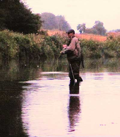 Chris McCully enjoying a spot of evening sea trout fishing on the River Slaney, Co. Wexford.