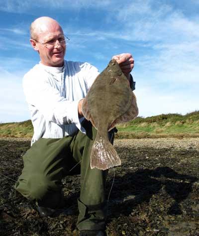 A specimen Wexford estuary flounder.