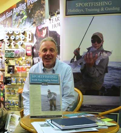 Ireland's premier bass angling guide Jim Hendrick.