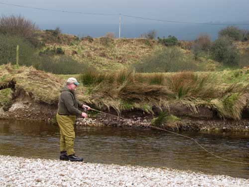 Early season fly fishing high up in the Wicklow hills.