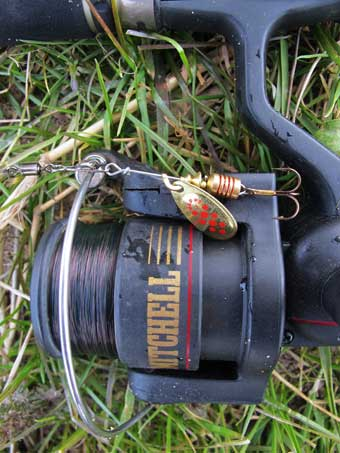 Size 1 copper Mepps, an ideal lure for taking trout and sea trout.