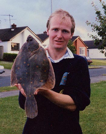 4.lb+ plaice caught on the Kilcoole bank south of Greystones, Co. Wicklow, Ireland.