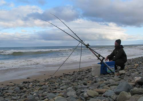 Waiting for a bite, bass fishing in South Wexford, Ireland.
