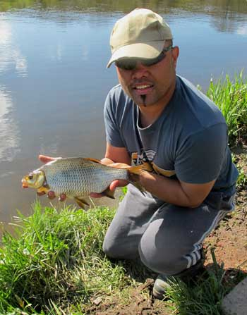 South African angler Alastair Leong sports a nice River Barrow hybrid.
