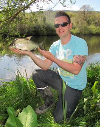 Waterford angler Paul Millea with a River Barrow bream.