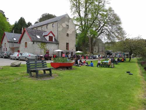Leisurely sunday outside the Old Grain Store, St Mullins, Co. Carlow.