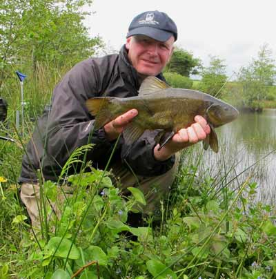 A plump Irish tench tempted by maggot and sweetcorn.