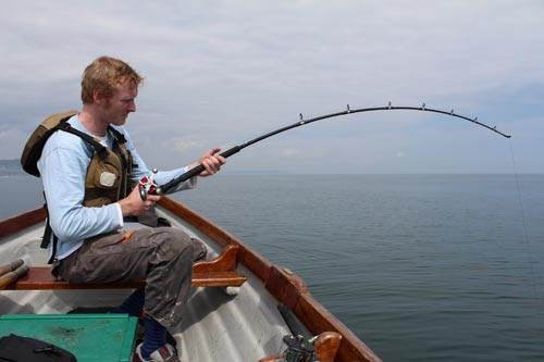 Gary Robinson playing a good tope off Greystones, Co. Wicklow, Ireland.