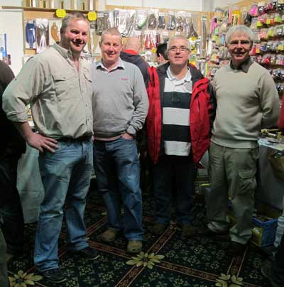 Jimmy Tyrrell (second left) of Irish Fly Craft and friends.