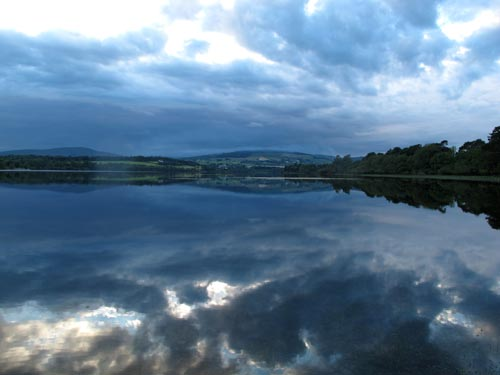 August evening on the south lake Roundwood, Co. Wicklow.