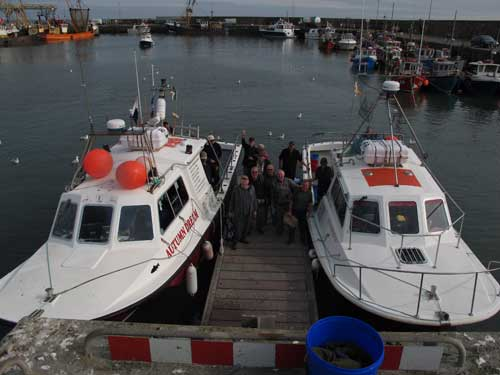 Angling charter boats berthed in Kilmore Quay, Co. Wexford, Ireland.