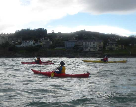 Sea kayaking in Dalkey sound.