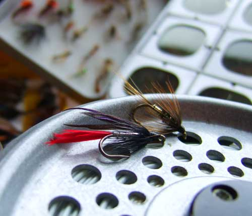 Butcher and a Kill Devil Spider, sea trout flies of the Slaney.