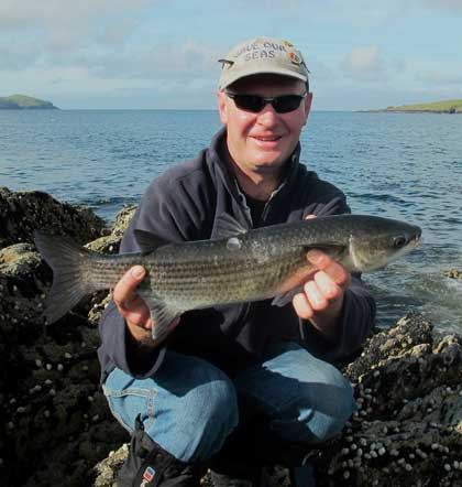 An early morning grey mullet for Ashley Hayden.