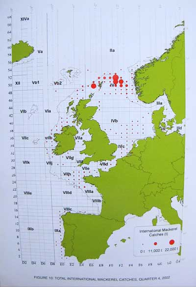 European Mackerel Fishery by Sea Area.