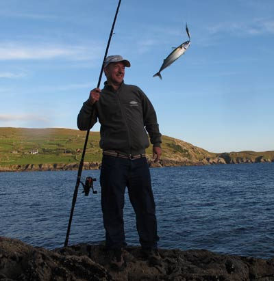 An evening session mackerel fishing, West Cork, late summer 2013.