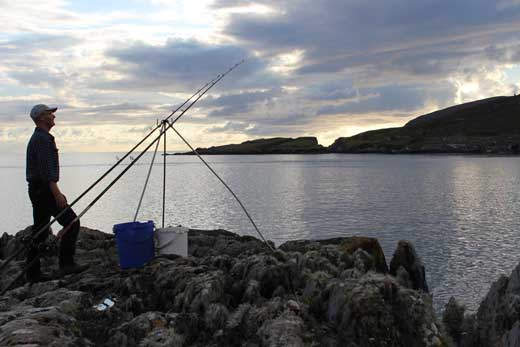 Evening sea fishing on the Beara Peninsula, West Cork, Ireland.