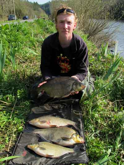 Coarse fishing the River Barrow in south east Ireland.