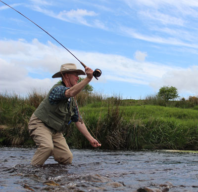 Fly fishing in County Wicklow, Ireland.