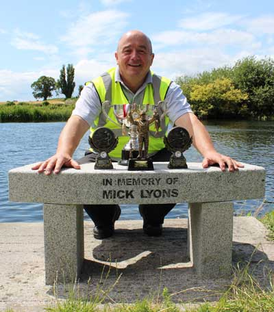 Micheal Lyons Jnr who runs the annual Mick Lyons Memorial Coarse Fishing match for people with disabilities, Bagnelstown, Co. Carlow, Ireland.
