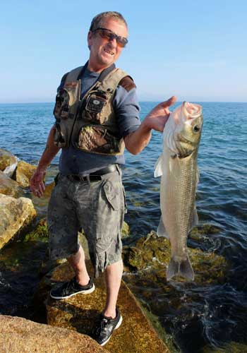 Bass fishing in Ireland, every bass anglers dream.