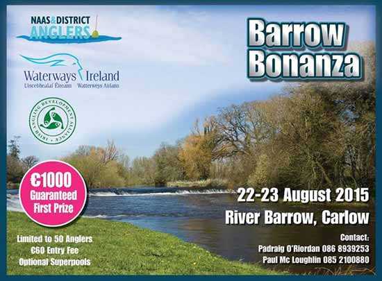 Barrow Bonanza Coarse Angling Competition, 22 - 23 August 2015, Carlow Town Area