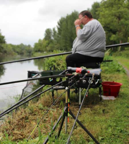 Competing at the Barrow Bonanza 2015 Coarse Angling Match, River Barrow, Co. Carlow, Ireland.