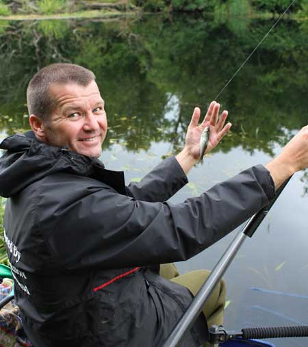 Match angler Gary Quayle displays a River Barrow dace.