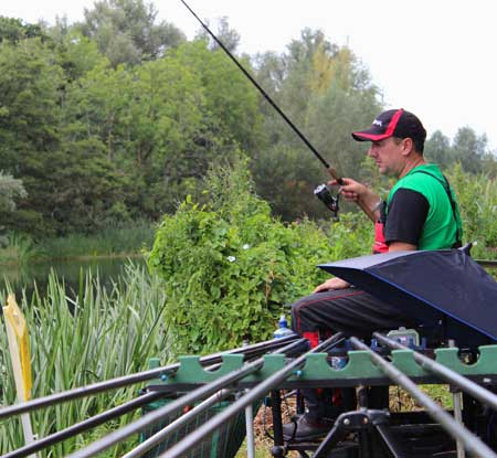 World Coarse Fishing Pairs Champion Phillip Jackson fishes the River Barrow, Co. Carlow.
