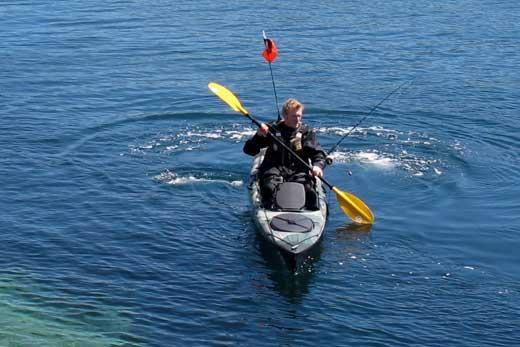 Gary Robinson, A Kayak Fisherman in Ireland.