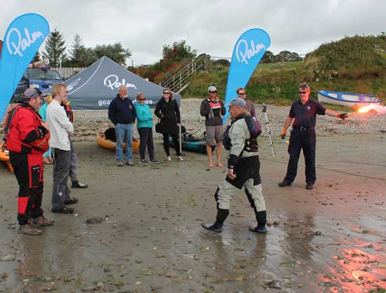 rish Kayak Fishing Open 2015, flare demonstration with Courtmacsherry RNLI.