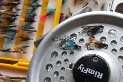 Sea trout flies.