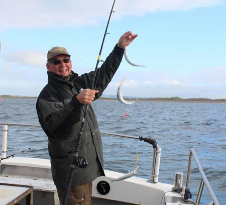 Mackerel fishing off Kilmore Quay, Co. Wexford, Ireland.