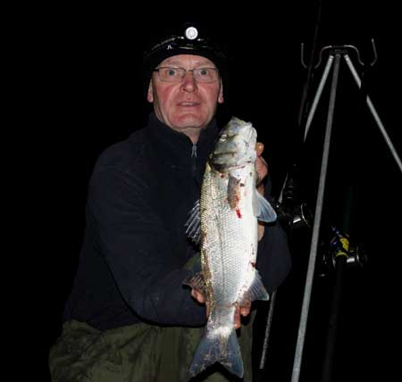 Bass fishing in County Wexford, Ireland.