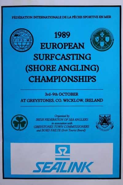 European Surfcasting Championships 1989, Greystones, Co. Wicklow, Ireland.