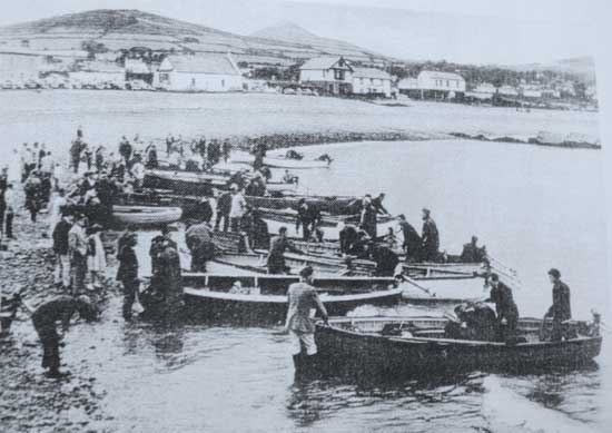 Greystones, Co. Wicklow angling competition day, circa 1950's/1960's.