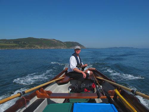 Ashley Hayden boat fishing off Greystones, Co. Wicklow, Ireland.