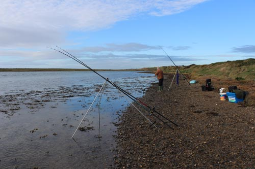 Estuary flounder fishing in Co. Wexford, Ireland.