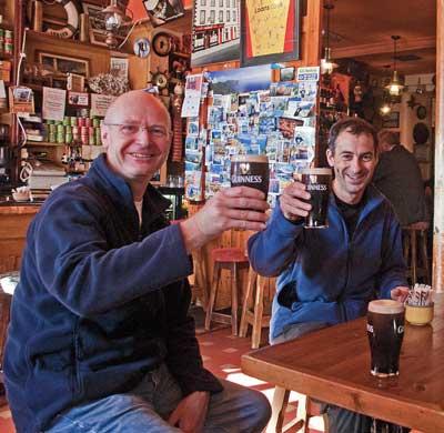 Pints in McCarthy's Bar Castletownbere, West Cork, Ireland.